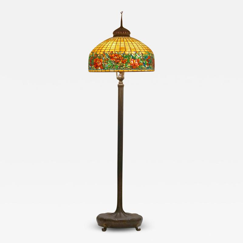 Tiffany Studios Tiffany Studios Peony Border Senior Floor Lamp