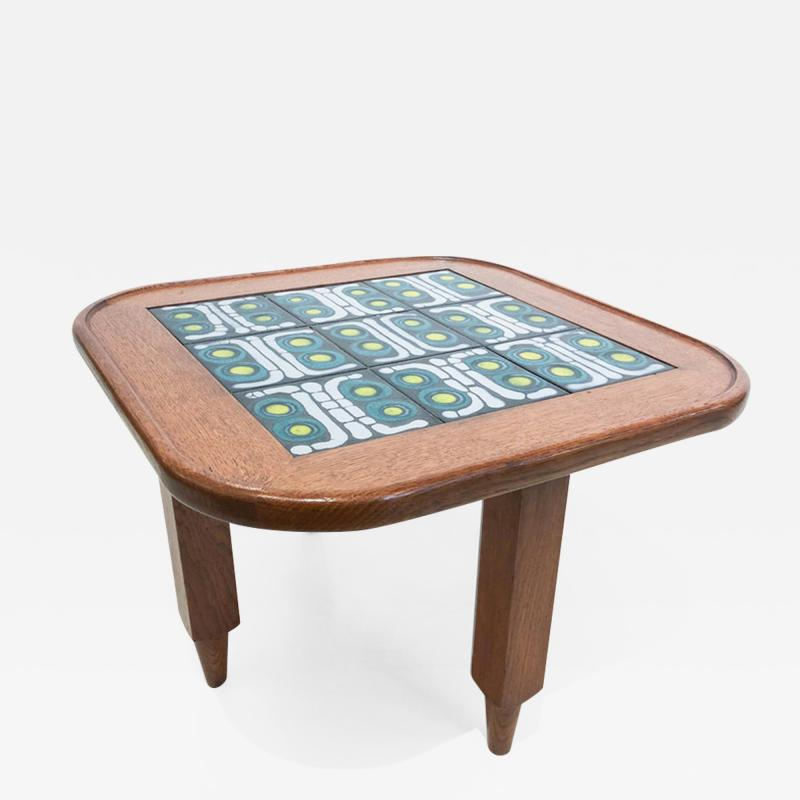 Tile Top Table by Guillerme et Chambron
