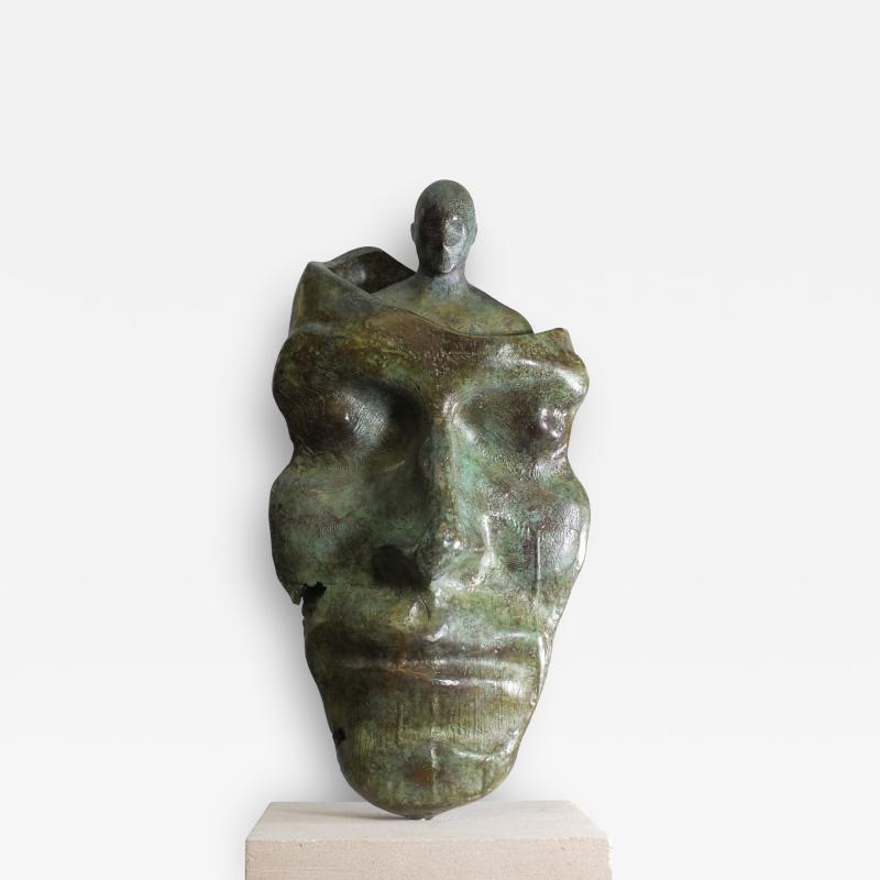 Tim Rawlins Reflective Self Unique Bronze Sculpture