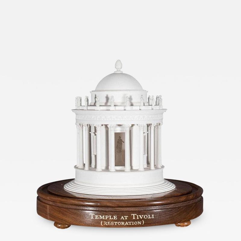 Timothy Richards A Plaster Model of the Temple at Tivoli by Timothy Richards