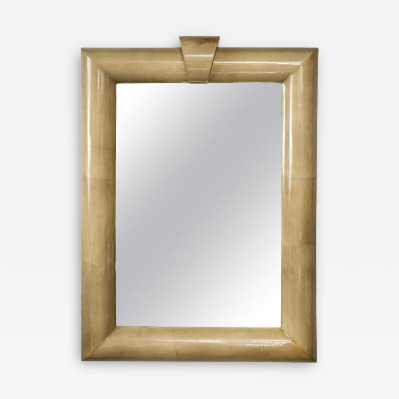Title Oversized Lacquered Parchment Mirror