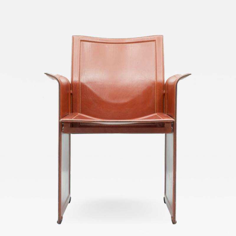 Tito Agnoli Tito Agnoli Korium Leather Chair by Matteo Grassi Italy1 970s