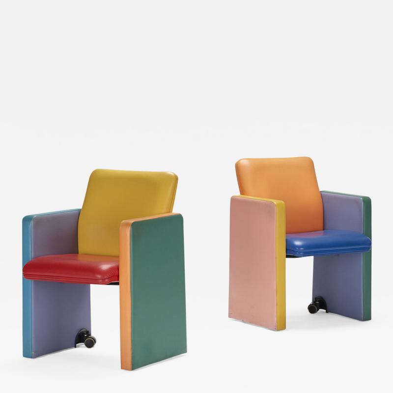 Tito Agnoli armchairs pair