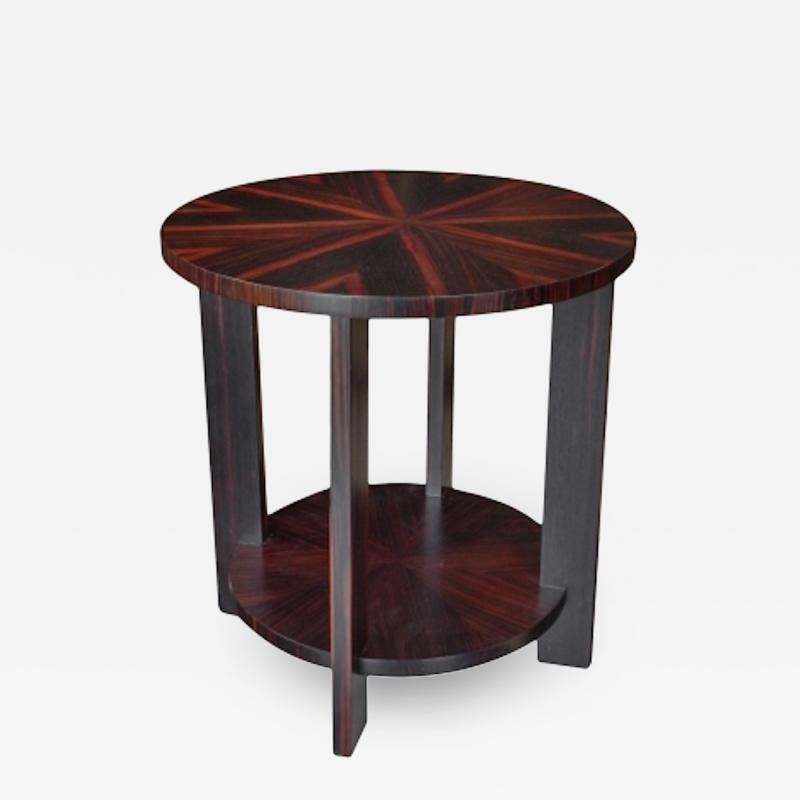 Todd Hase Round Zebrawood Occasional Table