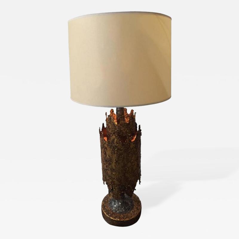 Tom Greene Brutalist Table Lamp by Tom Greene for Feldman