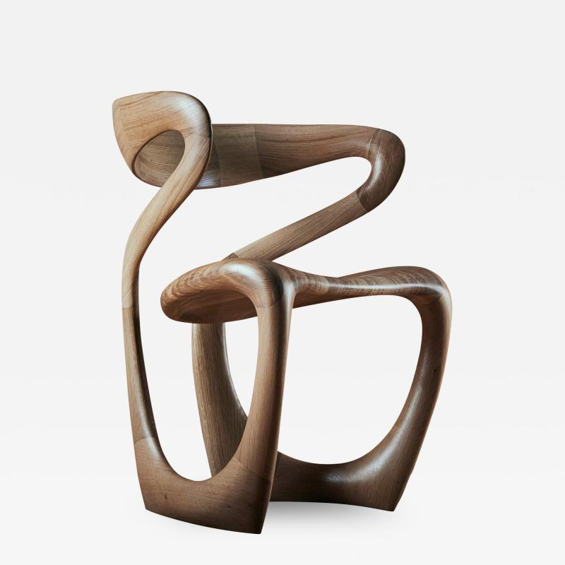 Tom Vaughan S Chair handmade abstract wooden chair by Tom Vaughan
