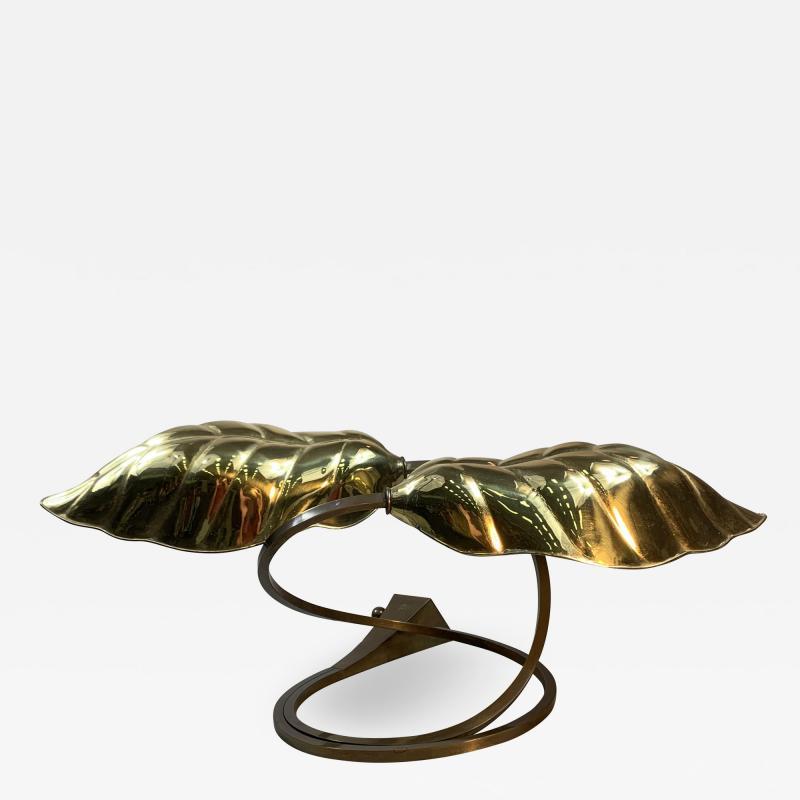 Tommaso Barbi MODERN POLISHED BRASS EXOTIC LEAF LAMP