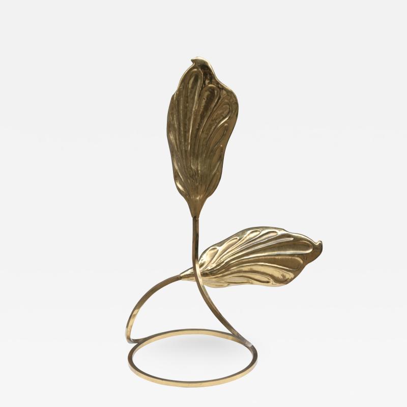 Tommaso Barbi Modernist Brass Table Lamp