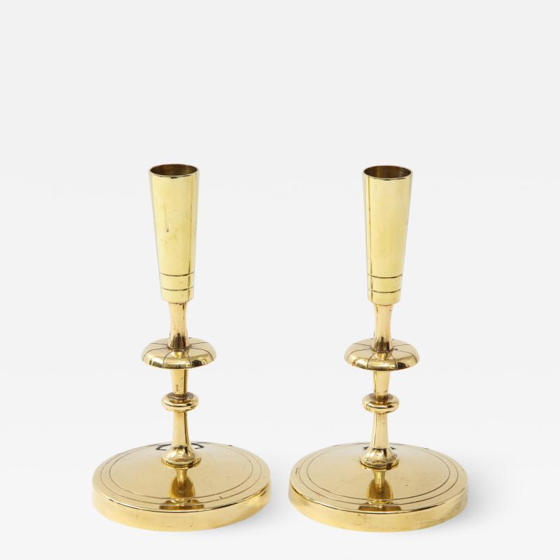 Tommi Parzinger Tommi Parzinger Brass Candlesticks
