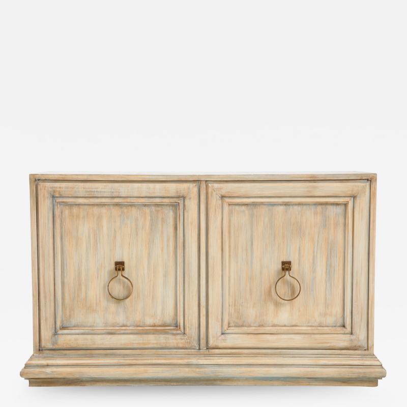 Tommi Parzinger Tommi Parzinger Driftwood Finished Cabinet Console
