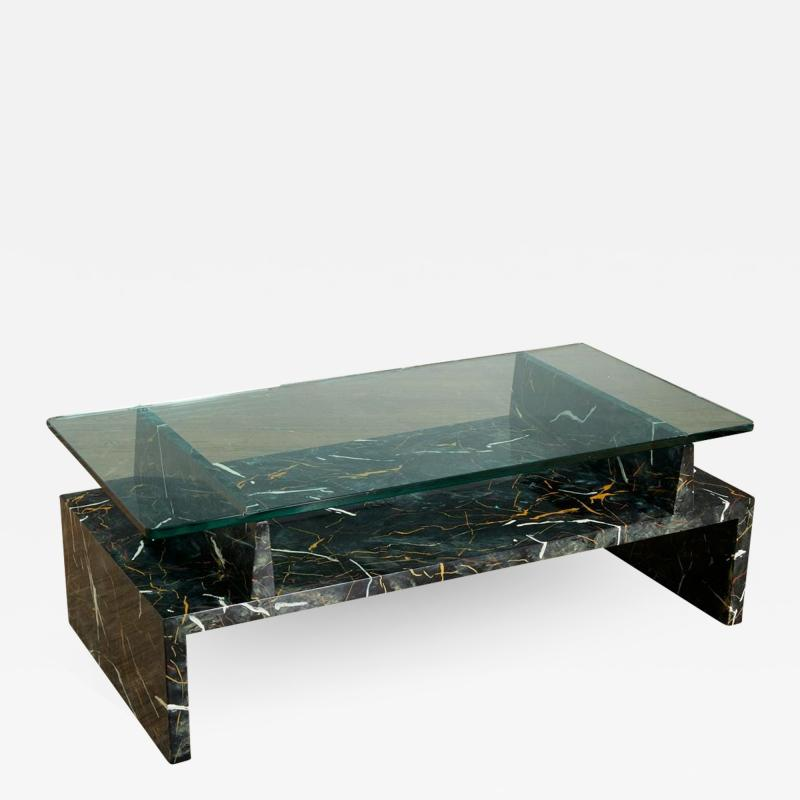 Tommi Parzinger Tommi Parzinger Painted Faux Marble Coffee Table