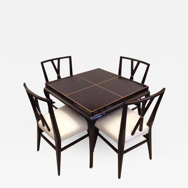 Tommi Parzinger Tommi Parzinger Rare Table and Four X Chairs