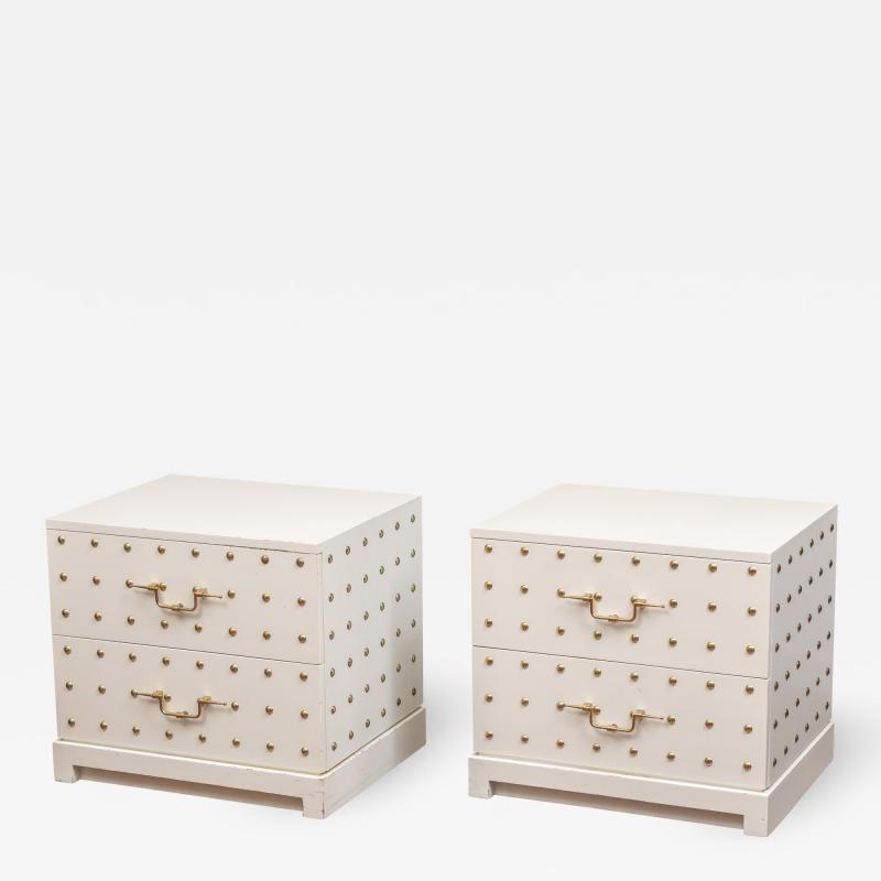 Tommi Parzinger Tommi Parzinger Two Drawer Studded Dressers