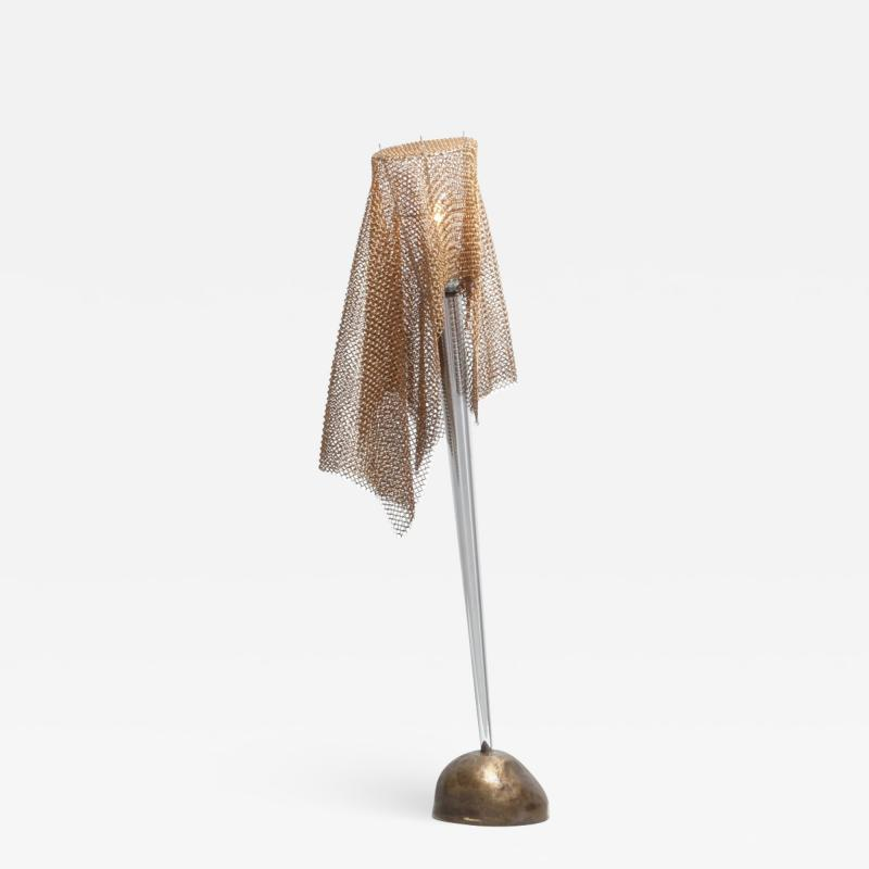 Toni Cordero di Montezemolo Artemide Chain Mail Table Lamp Anchise by Toni Cordero 1980s