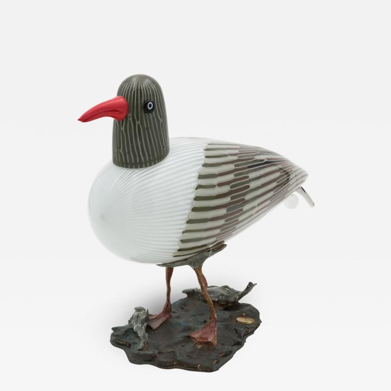 Toni Zuccheri A Gabbiano Glass Bird by Toni Zuccheri