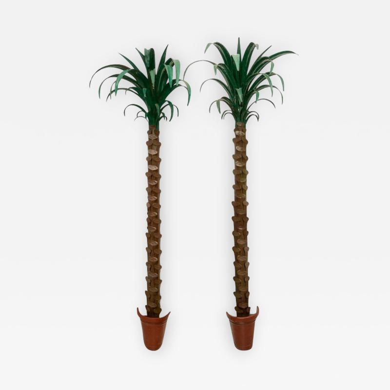 Tony Duquette Pair of Palm Tree Form Torcheres