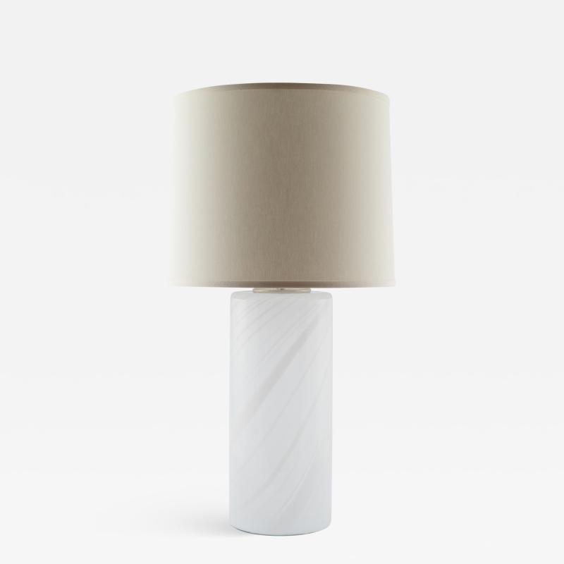 Torben J rgensen Torben J rgensen Misty swirled glass table lamp for Holmegaard circa 1980s