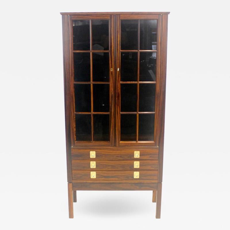 Torbjorn Afdal Distinctive Scandinavian Modern Rosewood Display Case by Torbjorn Afdahl