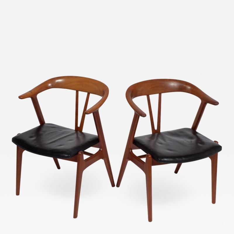 Torbjorn Afdal Pair arm chairs by Torbjorn Afdal for Bruksbo