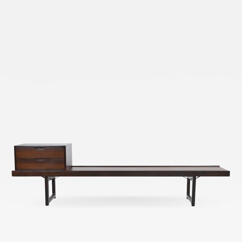 Torbjorn Afdal Scandinavian Modern Rosewood Bench Coffee Table by Torbjorn Afdahl