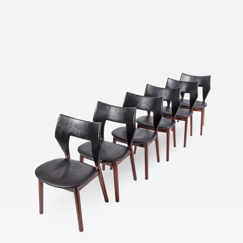 Tove Edvard Kindt Larsen Set of six dining chairs Tove Edvard Kindt Larsen for Torald Madsen 1960
