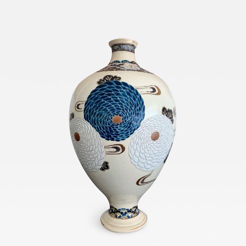 Tozan I Ito Japanese Ceramic Vase Meiji Period