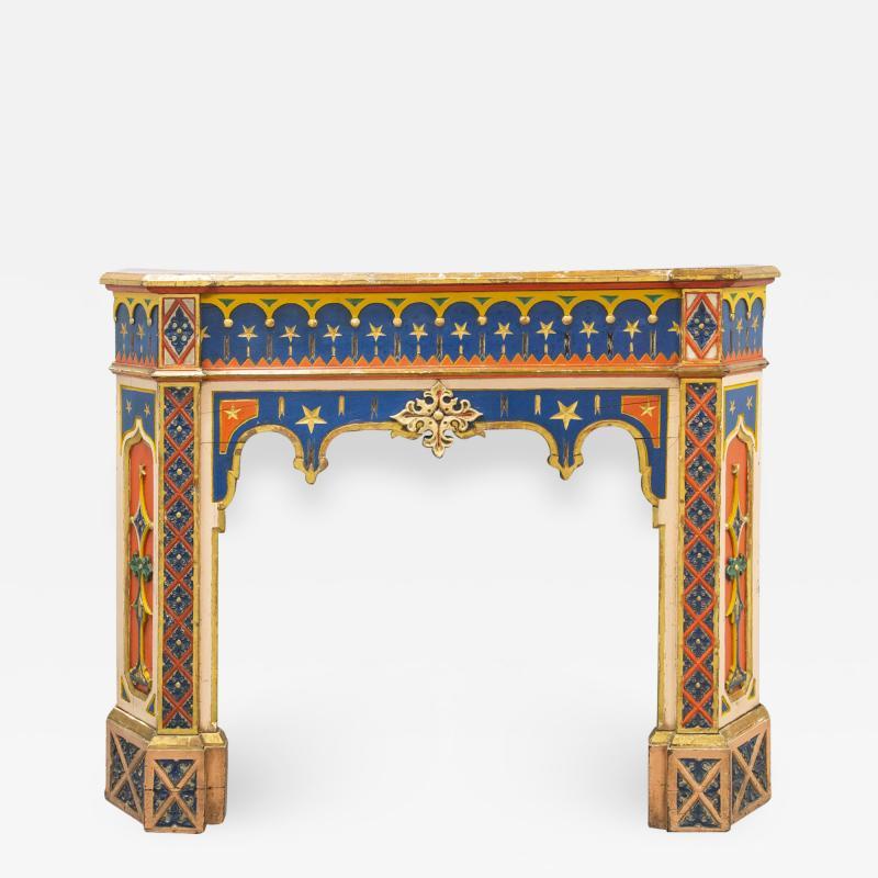 Troubadour fireplace mantelpiece