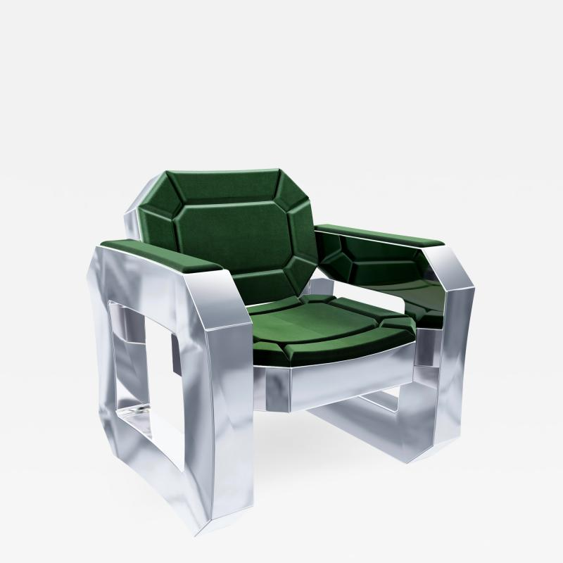 Troy Smith FACET LOUNGE CHAIR BY ARTIST TROY SMITH CONTEMPORARY DESIGN HANDMADE