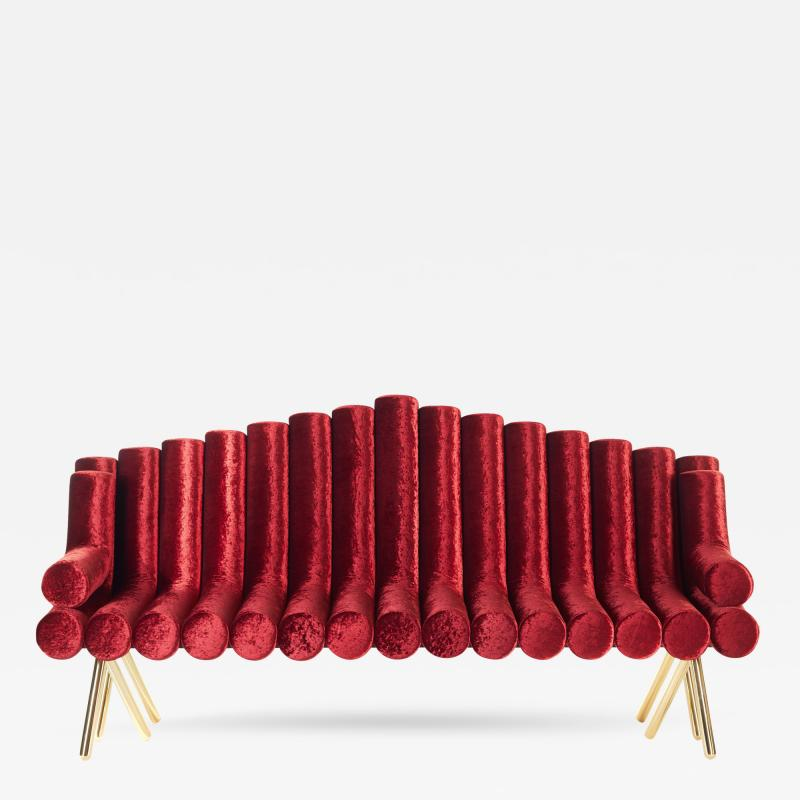 Troy Smith Flute Sofa
