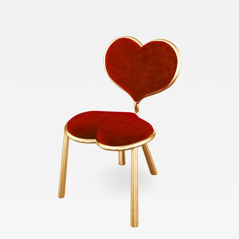 Troy Smith HANDMADE CONTEMPORARY MY BIG LITTLE HEART CHAIR BY ARTIST TROY SMITH