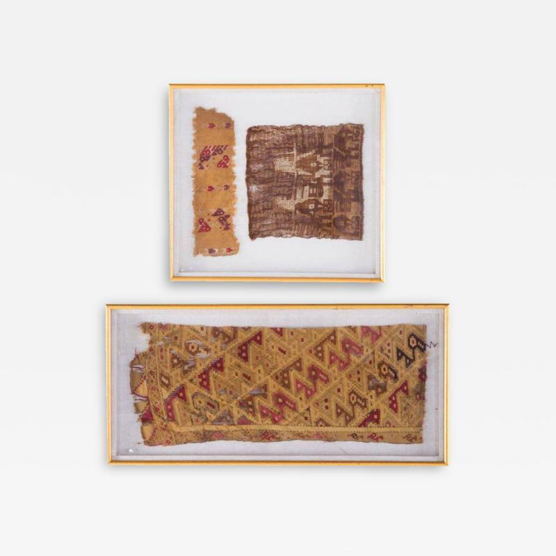 Two Framed Pre Columbian Textiles