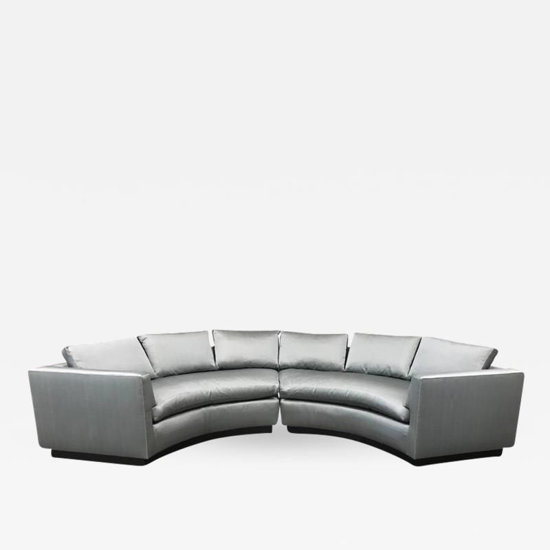 Two Piece Sofa Sectional in Satin