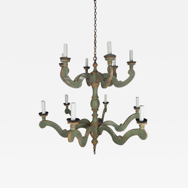 Two Tier Italian Style Painted Chandelier