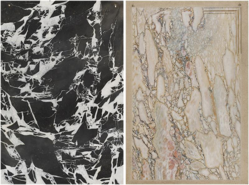 Two Trompe Loeil Paintings Simulating Marble And Breccia Di Settebasi