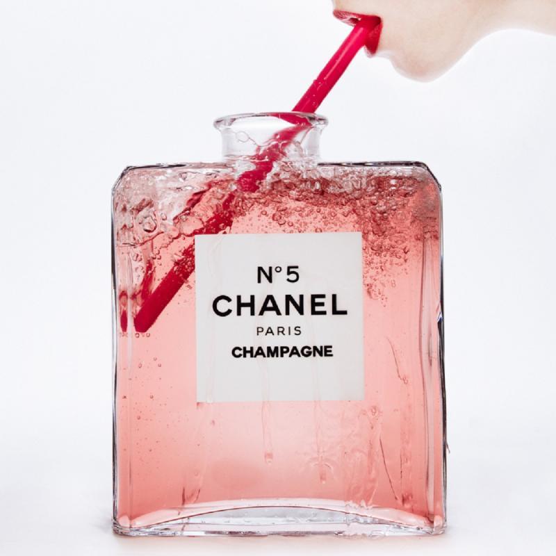 Tyler Shields Chanel Champagne