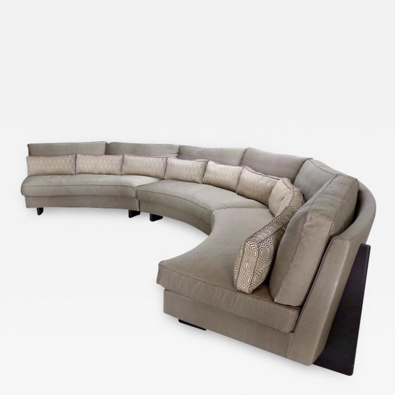 Umberto Asnago Semi circular Sectional Sofa by Umberto Asnago for Mobilidea Italy