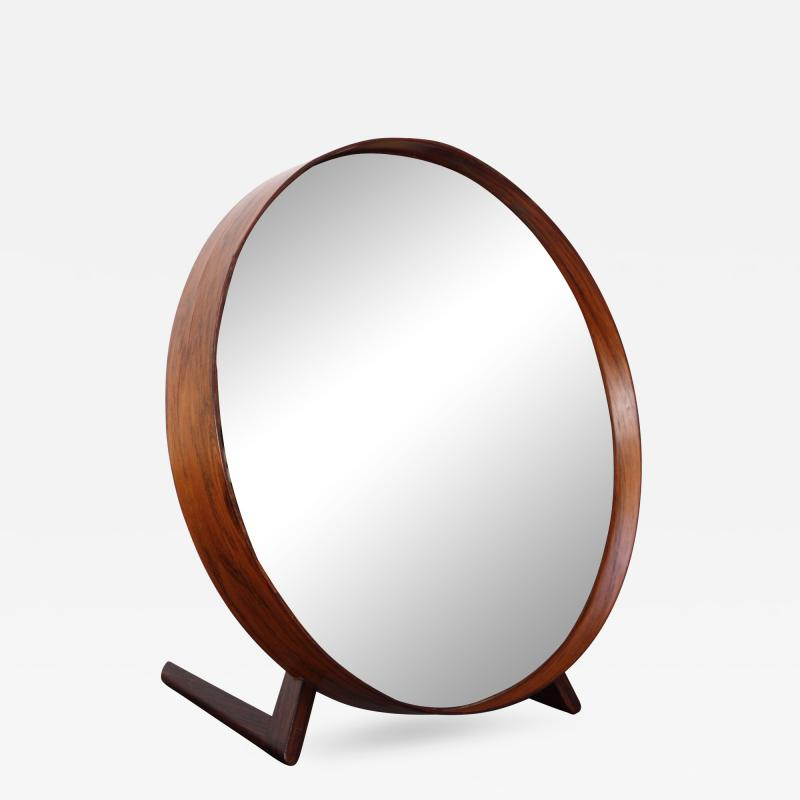 Uno Osten Kristiansson Swedish Rosewood Table Mirror by Uno and O sten Kristiansson for Luxus