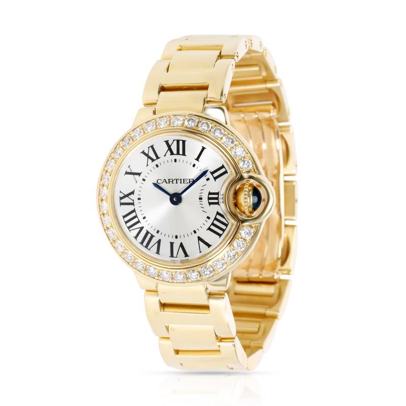 Unworn Cartier Ballon Bleu WE9001Z3 Women s Watch in 18kt Yellow Gold