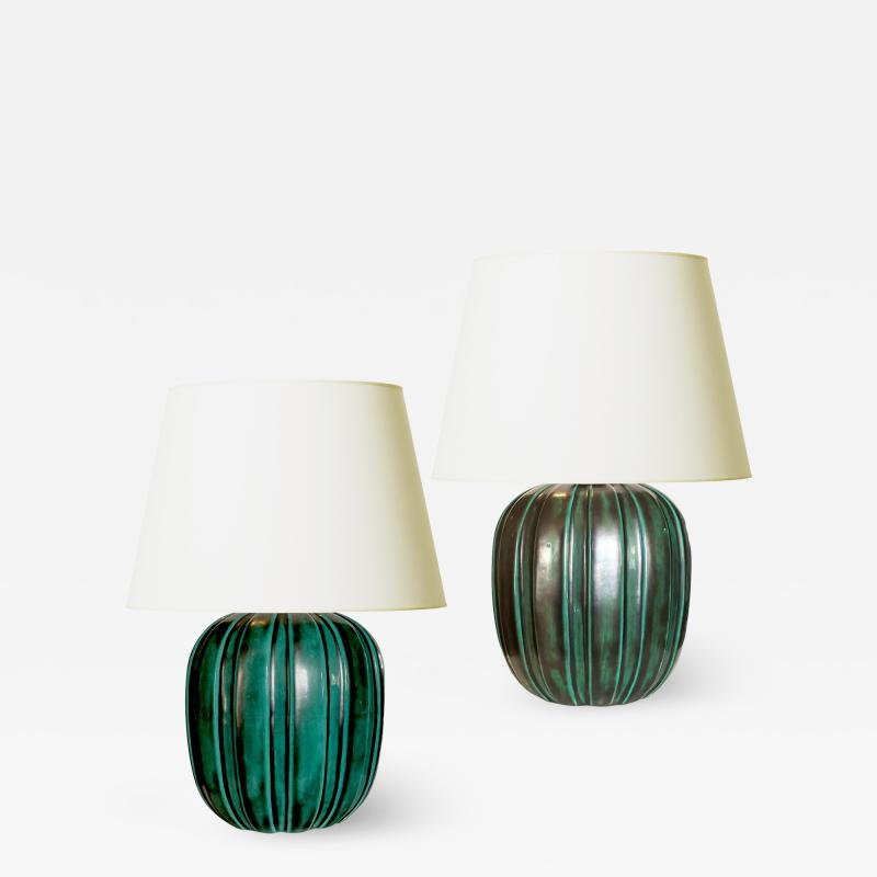 Upsala Ekeby Art Deco Table Lamps by Upsala Ekeby