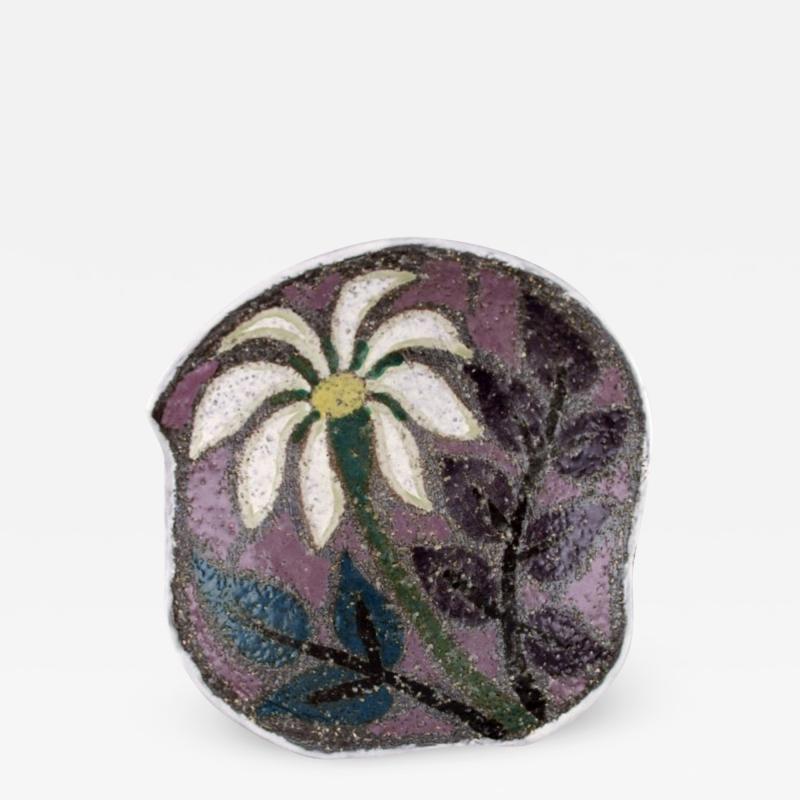 Upsala Ekeby Ester dish in glazed stoneware with floral motif