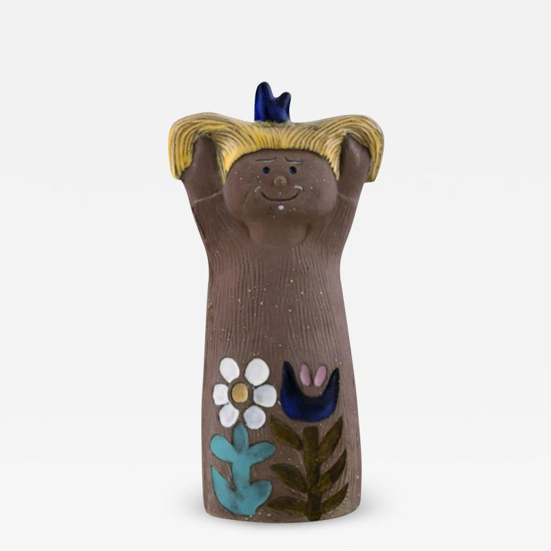 Upsala Ekeby Figurine of girl in glazed stoneware