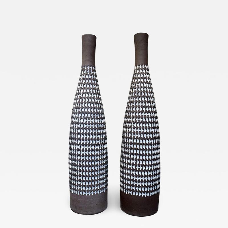 Upsala Ekeby Ingrid Atterberg for Upsala Ekeby a pair of huge Pepita ceramic floor vases