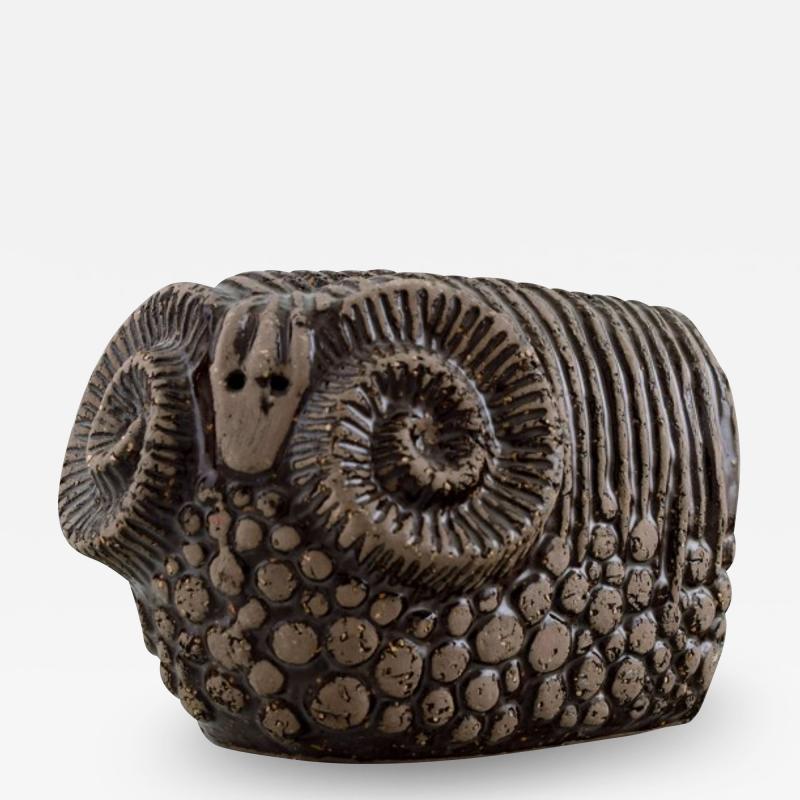 Upsala Ekeby Ram in glazed stoneware