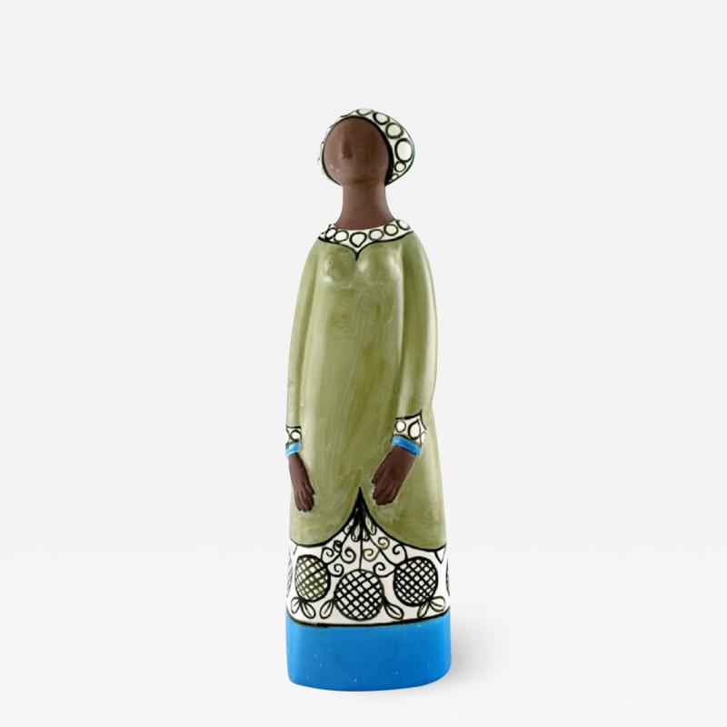 Upsala Ekeby Rare MARI SIMMULSON figure of woman ceramics Upsala Ekeby