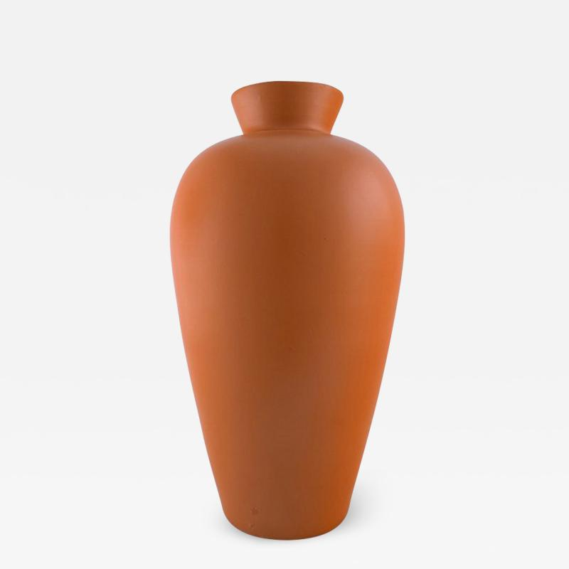 Upsala Ekeby Upsala Ekeby Large ceramic vase orange glaze Stylish design 1960 70s