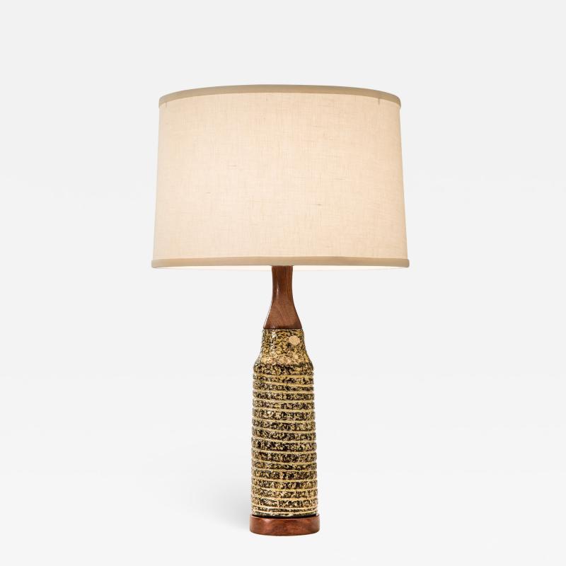 Upsala Ekeby Upsala Ekeby Swedish Stoneware Lamp Signed and Labeled
