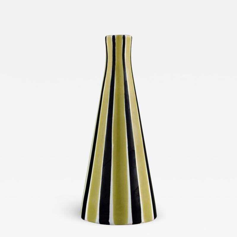 Upsala Ekeby Vase in glazed stoneware with striped decoration
