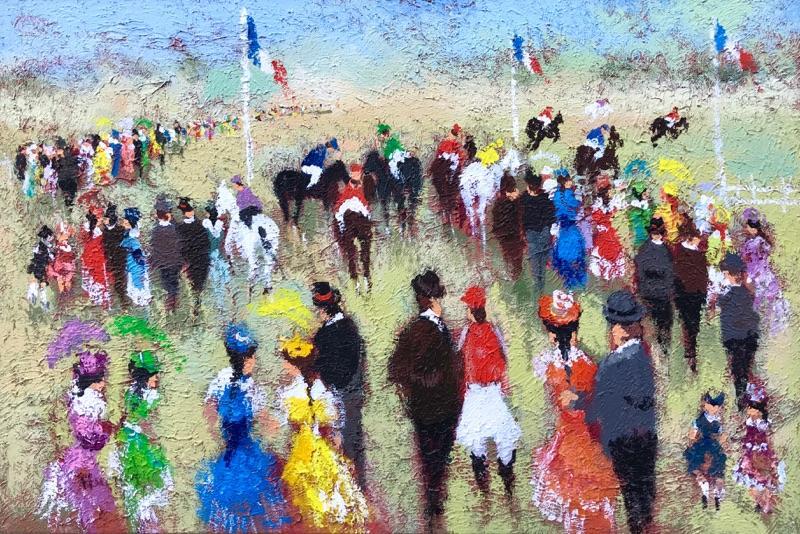 Urbain Huchet The Horse Race
