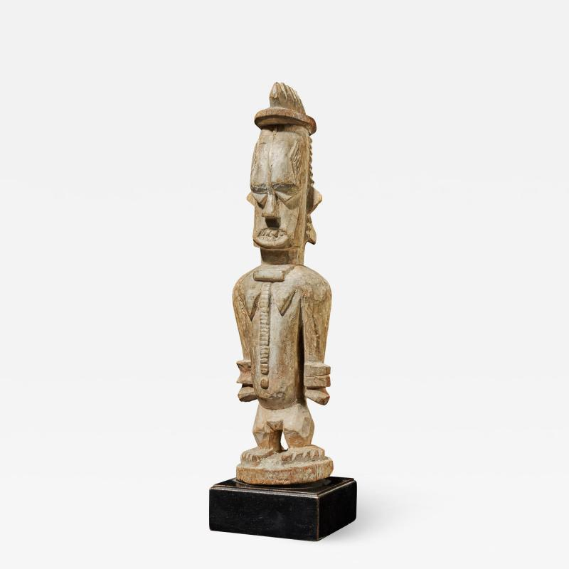 Urhubo People Nigeria Family Ancestor Statue with rests of Kaolin