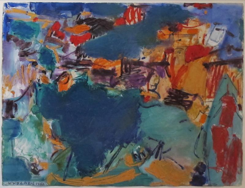 Vaclav Vytlacil Blue Green Abstraction